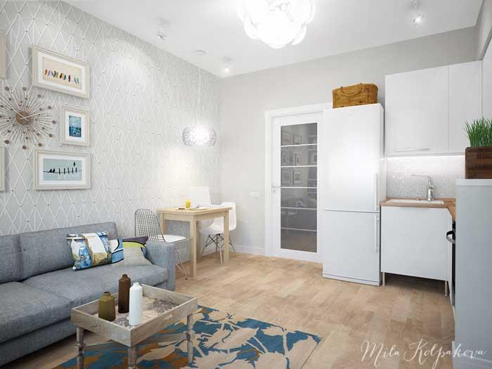 Оформление кухни-гостиной в стиле минимализм