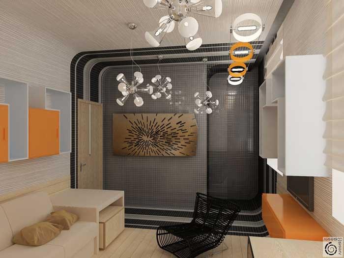 Декор детской комнаты для подростка 16, 17 лет. Оранжевый и серый цвет