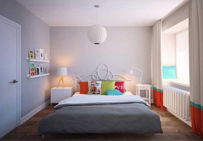 Дизайн маленькой спальни в скандинавском стиле. Недорогой ремонт