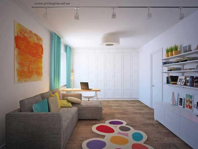 Детская комната для подростка в скандинавском стиле. Недорогой ремонт
