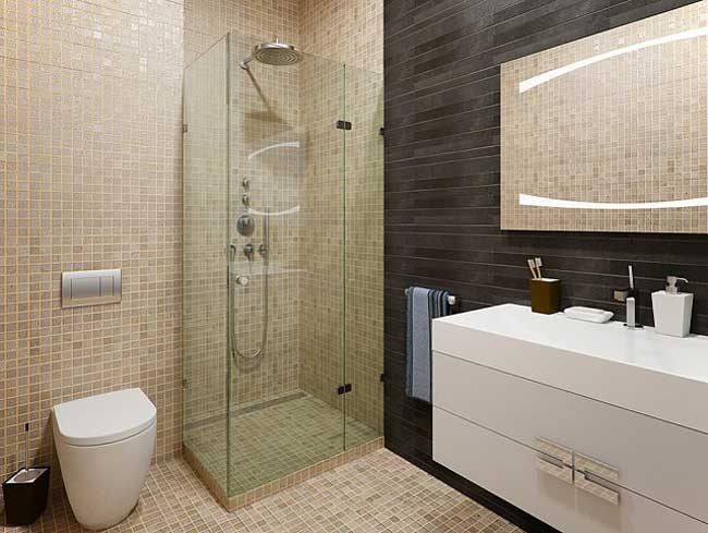 Дизайн ванной комнаты с душевой кабиной. Модна 2014
