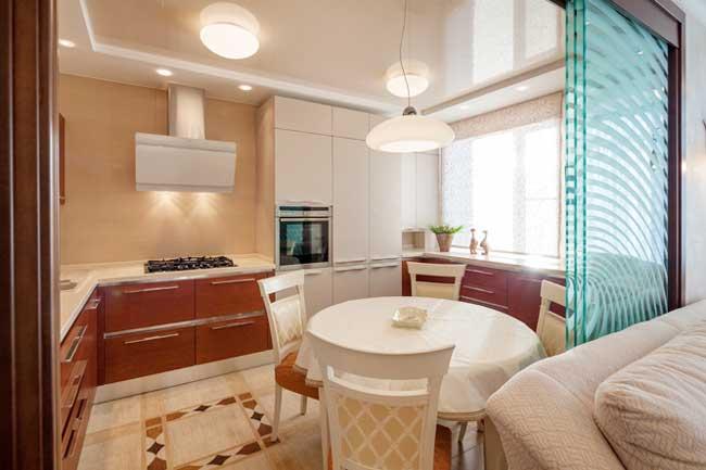 Оформление обеденной зоны на кухне. Дизайн освещения кухни