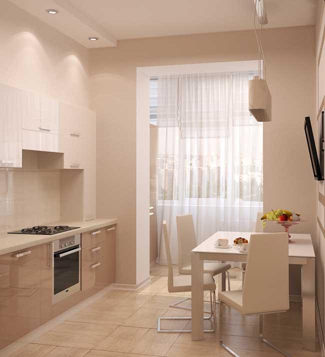 Дизайн интерьера кухонной зоны в маленькой квартире