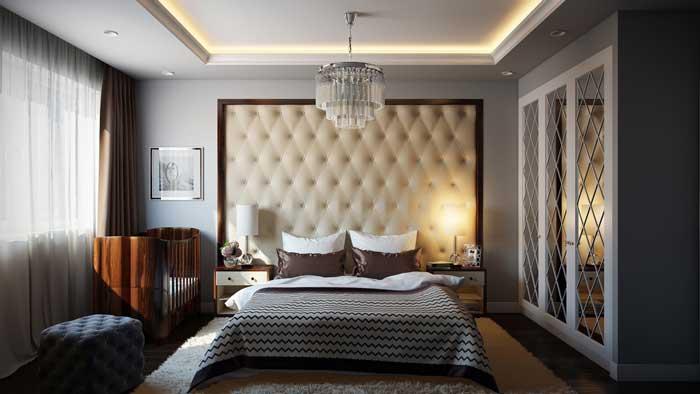 Дизайн интерьера маленькой спальни для родителей и маленького ребенка (младенца)