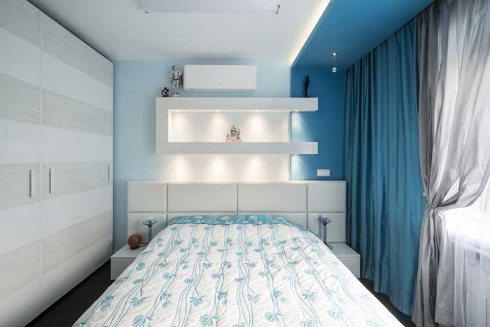 Оформление стен в спальне двухкомнатной квартиры