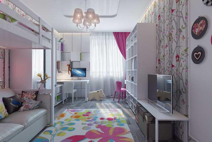 Комната для двух девочек разного возраста фото