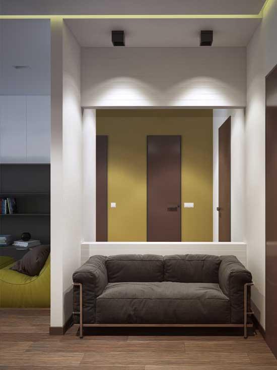 Дизайн прихожей в однокомнатной квартире студии