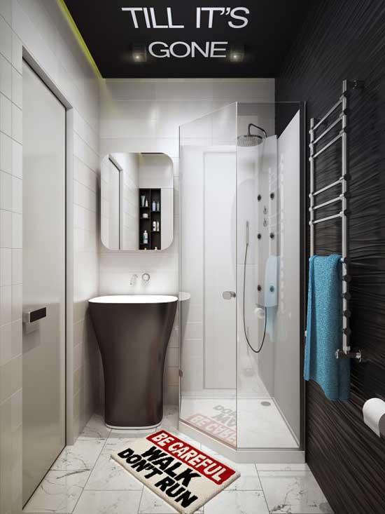 Дизайн совмещенного санузла с душевой кабиной и подвесным унитазом