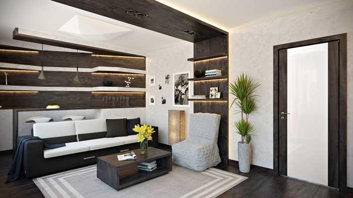 Модное и современное оформление гостиной-кухни в 2014 году
