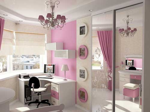 Дизайн гламурной комнаты для девочки