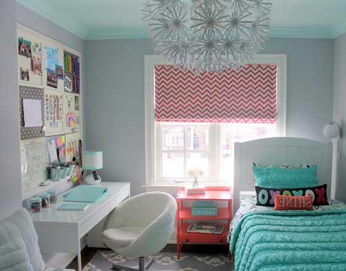 Дизайн комнаты для девочки подростка в светлых тонах