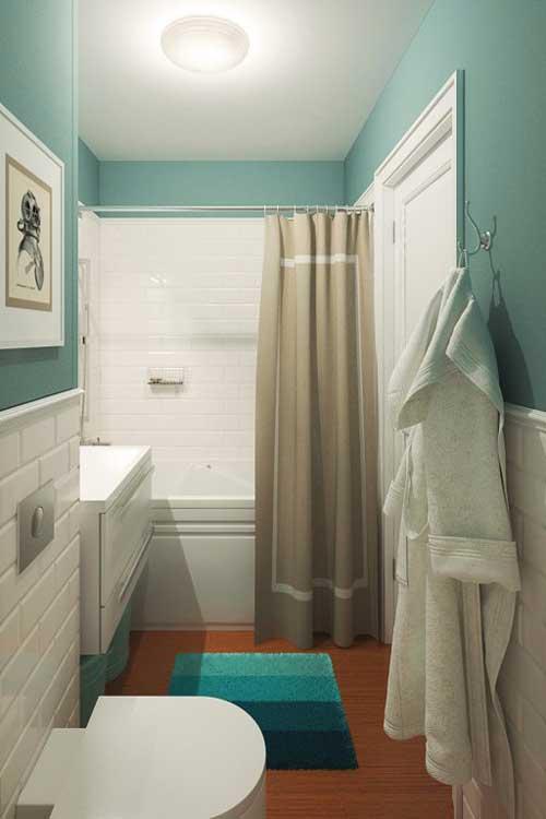 Дизайн интерьера ванной с мебелью из IKEA