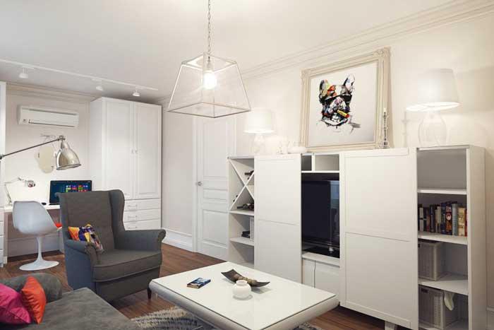 Интерьер небольшой гостиной с мебелью из IKEA