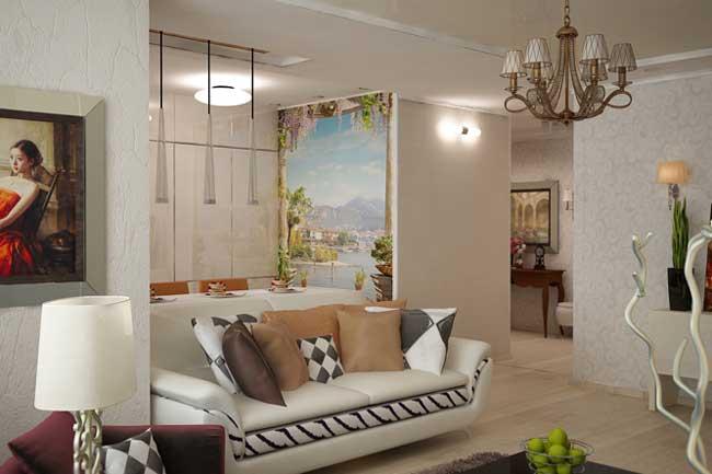 Дизайн освещения гостиной. Гостиная в белых тонах