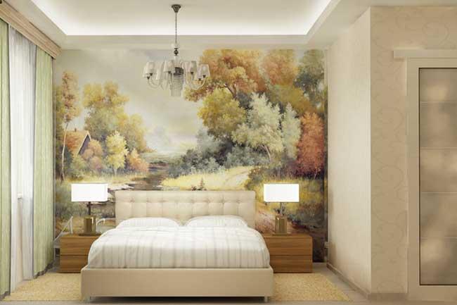 Фотообои в спальне. Дизайн современной спальни