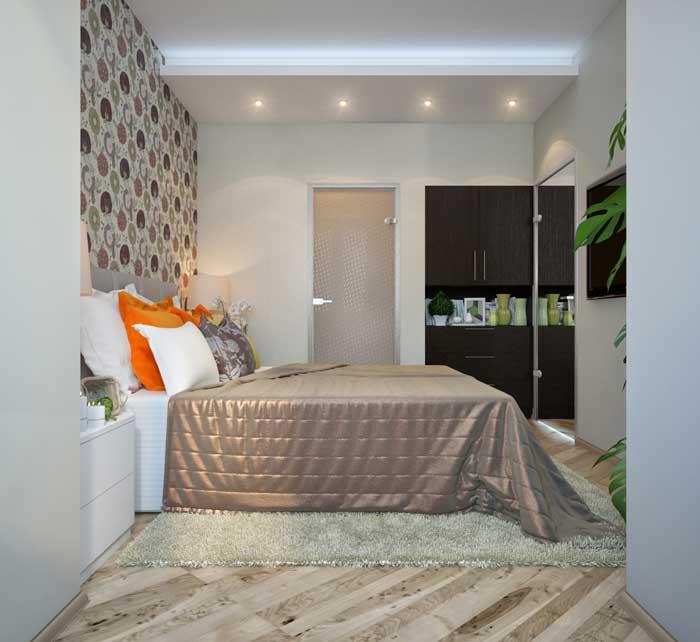 Дизайн маленькой спальни, совмещенной с лоджией
