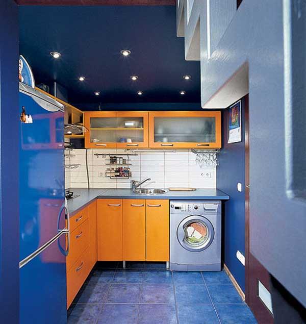 Правильное освещение в маленькой кухне