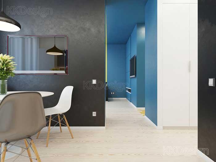 Минимализм в интерьере гостиной квартиры студии