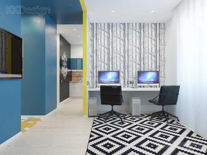 Гостиная в стиле минимализм в квартире студии