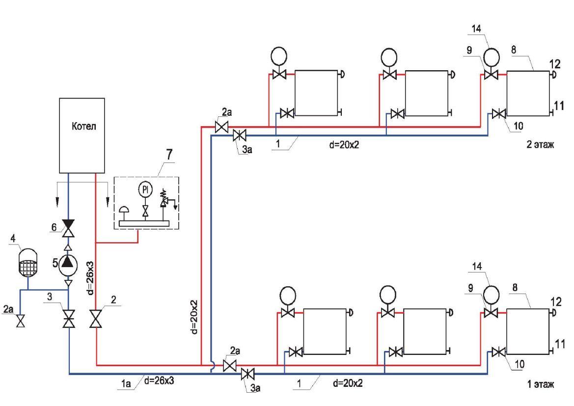 Схема подключение двухконтурного газового котла
