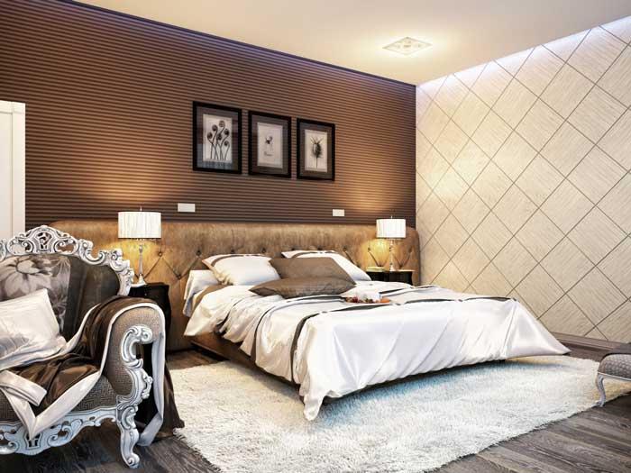 Идея дизайнерского ремонта в спальне. Популярна в 2014 году