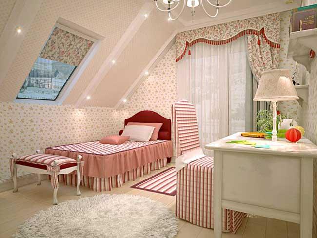 Дизайн маленькой детской комнаты для девочки. Фото 15