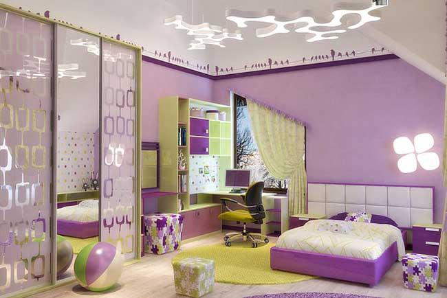Детская комната с высокими потолками. Фото 21