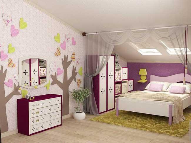 Дизайн детской комнаты для девочки 6-11 лет. Фото 9