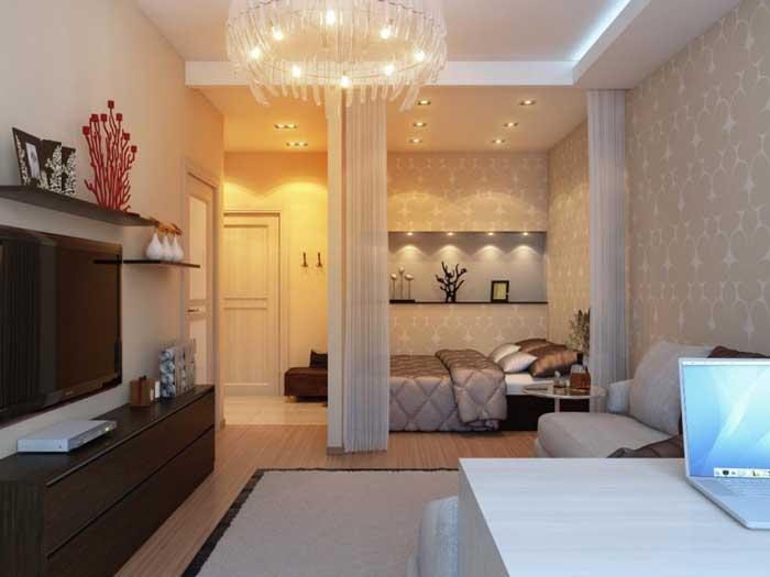 Дизайн однокомнатной квартиры для семьи. Фото 8