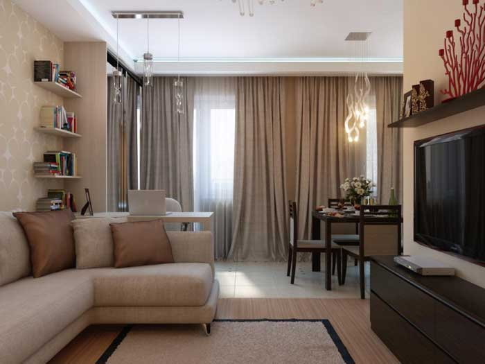 Дизайн проект однокомнатной квартиры в Москве. Фото 11