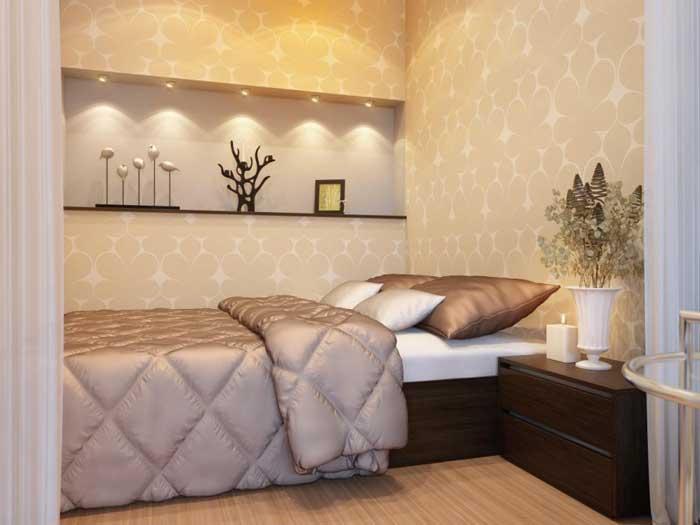 Дизайн однокомнатной квартиры с кроватью. Фото 12