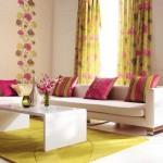 Яркие и современные шторы для гостиной. Фото 10