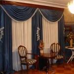 Синие шторы на два окна. Фото 20