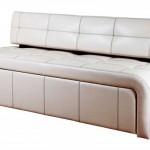 Белый раскладной диван для кухни фото 8