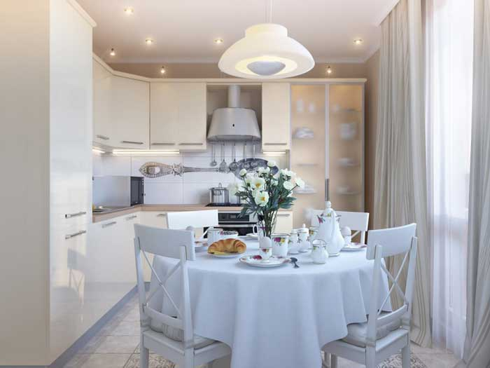Дизайн кухни 9 кв. м. в стиле