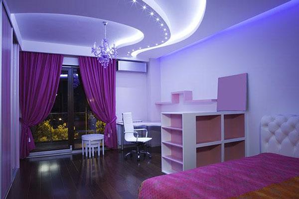 Многоуровневый потолок с подсветкой в детской
