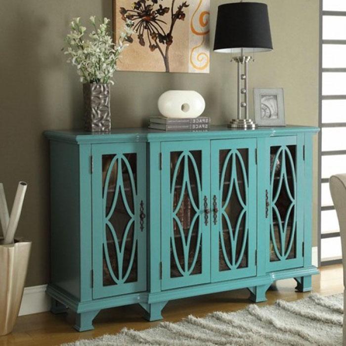 Синий шкаф для гостиной