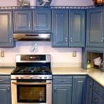 Дизайн синей кухни. Шкафа на кухню в классическом стиле