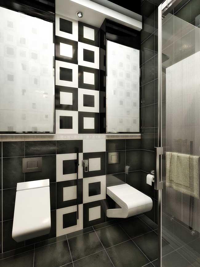 Совмещенная ванная комната с душевой кабиной. Фото 1