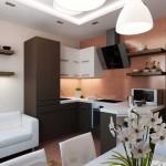 Дизайн кухни в маленькой квартире. Фото 9