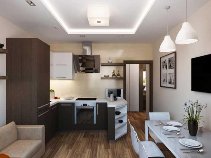 Интерьер однокомнатной квартиры. Фото 12
