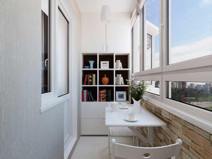 Отделка балкона в однокомнатной квартире. Фото 17