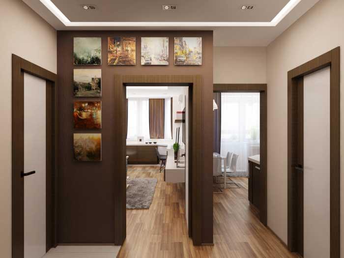 Дизайн однокомнатной квартиры - фото прихожей. Фото 6