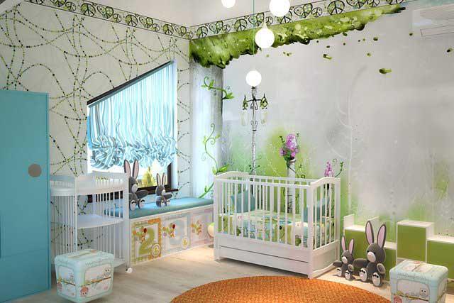 Современная светлая комната для ребенка