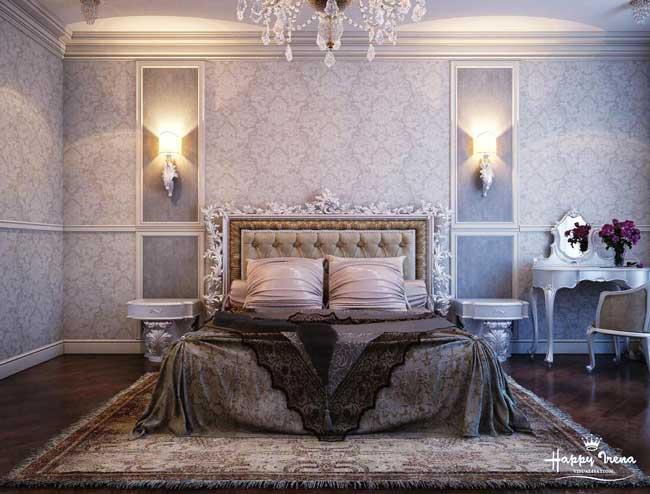 Дизайн спальни в классическом стиле. 18 метров. Фото 2