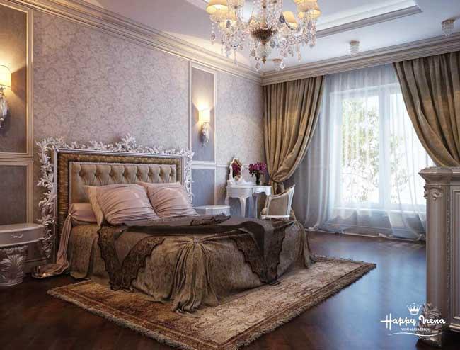 Дизайн проект спальни в темных тонах. Фото 3