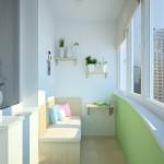 Красивый и светлый балкон