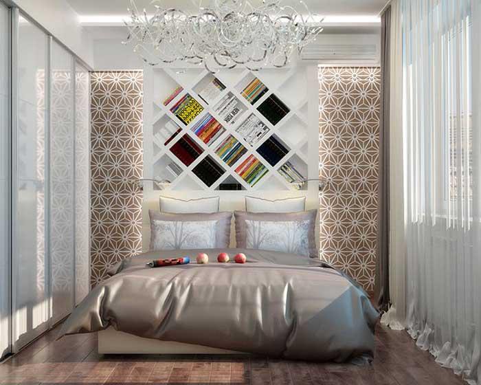 Светлая современная спальня 9, 10, 11 кв.м. для родителей и младенца