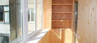 Вагонки на лоджии и балконе