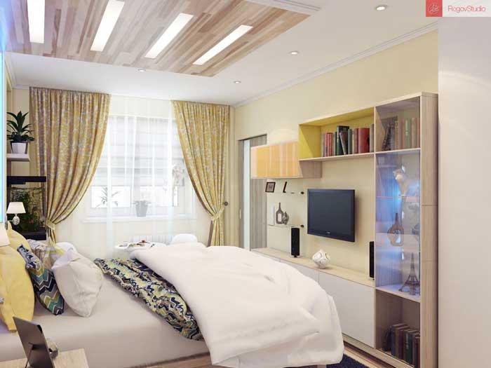 Светлая спальня для молодой пары. Фото 1